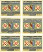 Banknotes Emmendingen. Stadt. Série de 6 billets.  50 pf 1921
