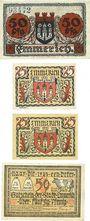 Banknotes Emmerich. Stadt. Billets. 50 pf 15.11.1918, 25 pf (2ex), 50 pf 1.12.1920