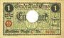 Banknotes Ems, Bad. Stadt. Billet. 1 mark série (Reihe) C 18.11.1918, annulation par perforation