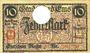 Banknotes Ems, Bad. Stadt. Billet. 10 mark série (Reihe) A 18.11.1918, annulation par perforation