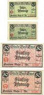 Banknotes Ems, Bad. Stadt. Billlets. 10 pf 18.11.1918-31.12.1919, 10 pf, 50 pf (2ex) 18.11.1918-31.12.1920