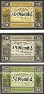 Banknotes Eppelborn-Dirmingen. Bürgermeisterei. Billets. 10 pf, 25 pf, 50 pf 15.2.1921