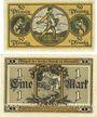 Banknotes Erbach im Odenwald. Gemeinde. Billets. 50 pf, 1 mark nov. 1918
