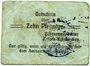 Banknotes Erbach-Reiskirchen. Gemeinde. Billet. 10 pfennig (1917), au dos, numérotation manuscrite en noir...