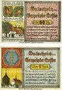 Banknotes Erfde. Gemeinde. Billets. 50 pfennig, 1 mark (1921)