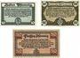 Banknotes Erfurt. Stadt. Billets. 50 pfennig 20.10.1918, 10 + 20 pfennig 9.4.1920