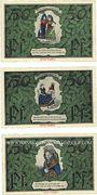 Banknotes Erfurt. Thüringer Trachten- und Heimatfest. Billets. 50 pf (3 ex) 26-27.6.1921