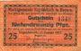 Banknotes Ergoldsbach. Marktgemeinde. Billet. 25 pf 15.1.1917