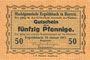 Banknotes Ergoldsbach. Marktgemeinde. Billet. 50 pf 15.1.1917
