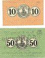 Banknotes Erlelenz. Kreis. Billets. 10 pf, 50 pf 19.10.1918