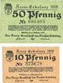 Banknotes Erlelenz. Kreis. Billets. 50 pf 19.10.1918 ; 10 pf 18.12.1918