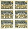 Banknotes Eschershausen. Stadt. Billets. 10, 25, 50, 75 pf, 1, 2 mark 1.6.1921