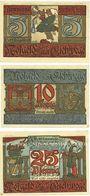 Banknotes Eschwege. Stadt. Billets. 5 pf, 10 pf, 25 pf (1922)
