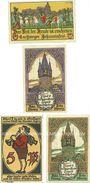 Banknotes Eschwege. Stadt. Billets. 5 pf (1919), 10 pf 1919, 5 pf 10 pf 1920