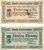 Banknotes Eschweiler. Stadt. Billets. 25 pf, 50 pf 1.10.1918
