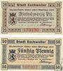 Banknotes Eschweiler. Stadt. Billets. 25 pf, 50 pf 1.11.1918