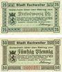 Banknotes Eschweiler. Stadt. Billets. 25 pf, 50 pf 1.12.1918
