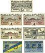 Banknotes Esens. Stadt. Billets. 10, 25 (2ex), 50 pf (1920) ; 10, 25, 50 pf n.d.