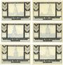 Banknotes Esingen. Gemeinde. Billets. 25 pf (2ex), 50 pf (2ex), 75 pf (2ex) (1921)