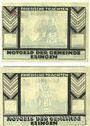 Banknotes Esingen. Gemeinde. Billets. 25 pf, 75 pf (1921)