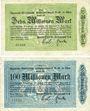 Banknotes Essen. Rheinisch-Westfälisches Elektrizitätswerk A.-G. Billets. 10, 100 millions mk 1923