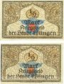 Banknotes Esslingen. Stadt. Billets. 1/2 mark 1917 (2 ex)