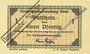 Banknotes Ettal. Klostergutsverwaltung. Billets. 1 pfennig avril - fin juillet 1919