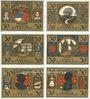 Banknotes Ettenheim. Stadt. Série de 6 billets de 50 pfennig du 1.3.1922