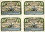 Banknotes Eutin. Kriegsverein. Série de 4 billets. 50 pfennig 30.10.1921