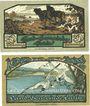 Banknotes Eutin. Land-Gemeinde. Billets. 50 pf, 100 pf (1921)