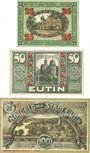 Banknotes Eutin. Stadt. Billets. 25 pf, 50 pf, 100 pf décembre 1920