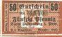 Banknotes Falkenburg i. Pom (Zlocieniec, Pologne). Stadt. Billet. 50 pf 1.2.1919