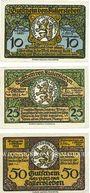 Banknotes Fallersleben. Stadt. Billets. 10 pf, 25 pf, 50 pf 1.10.1920