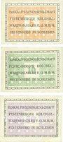 Banknotes Festenberg. Einkaufsgenossenschaft der Festenberger Kolonialwarenhändler. Billets. 5, 10, 50 pf
