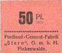 Banknotes Finkenwalde (Zdroje, Pologne). Portland Cement-Fabrik G.m.b.H. Billet. 50 pf (1919)