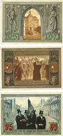 Banknotes Finsterwalde. Stadt. Billets. 25, 50, 75 pf juillet 1921
