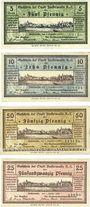 Banknotes Finsterwalde. Stadt. Billets. 5, 10, 50 pf 5.12.1919, 25 pf 1.10.1920