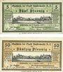 Banknotes Finsterwalde. Stadt. Billets. 5 pf, 50 pf 5.12.1919