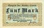 Banknotes Flatow (Zlotow, Pologne). Kreis. Billet. 5 mark 16.11.1918, Cachet d'annulation Wertlos