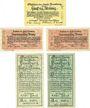Banknotes Flensburg. Stadt. Billets. 50 pf 1.8.1919, 50 pf (2ex) 16.1.1920, 50 pf (2ex) 14.3.1921