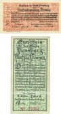 Banknotes Flensburg. Stadt. Billets. 50 pf 16.1.1920, 50 pf 14.3.1921