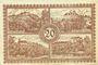 Banknotes Flöha. Amtshauptmannschaft. Billet. 20 mark 1.11.1918