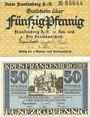 Banknotes Frankenberg a. Eder. Kreis. Billets. 50 pf (2ex) 12.11.1918