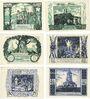 Banknotes Frankenhausen. Städtische Sparkasse. Série de 6 billets. 50 pf 19.6.1921