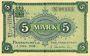 Banknotes Frankfurt a. Oder (Frankfurt a. Oder et Slubice en Pologne). Stadt. Billet. 5 mark 1.12.1918