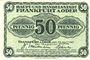 Banknotes Frankfurt a. Oder (Frankfurt a. Oder et Slubice en Pologne). Stadt. Billet. 50 pf 23.4.1917