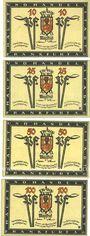 Banknotes Frankfurt a. Oder (Frankfurt a. Oder et Slubice en Pologne) Stadt billets 10, 25, 50 pf, 1 mk (1922)