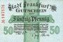 Banknotes Frankfurt am Main. Billet. 50 pf 1.5.1917, sans série