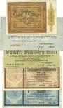 Banknotes Frankfurt am Main. Billets. 1, 5, 100 (2ex) millions, 10 milliards de mark 1923