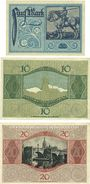 Banknotes Frankfurt am Main. Billets. 5, 10, 20 mark 15.10.1918, annulation par UNGÜLTIG